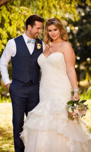 Stella York 6405 Ebeb Wedding Dress (front)