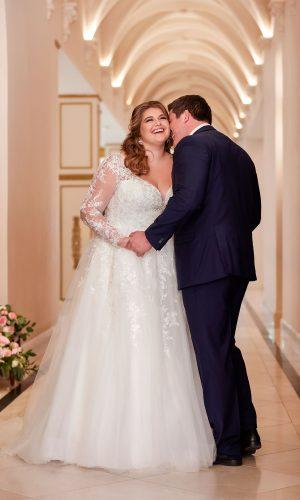 Stella York 6436 Ebeb Wedding Dress (front)