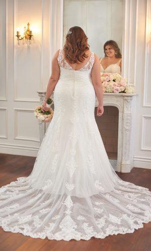 Stella York 6571 Ebeb Wedding Dress (back)