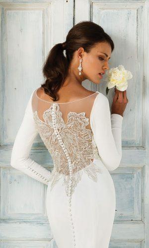 Justin Alexander 8936 Wedding Dress (back)
