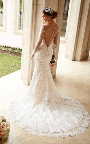 Stella York 6176 Wedding Dress (back)