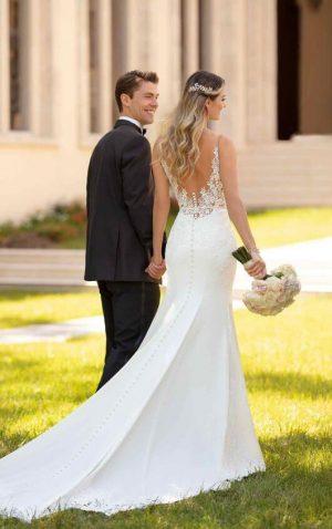 Stella York 6648 Wedding Dress (back)