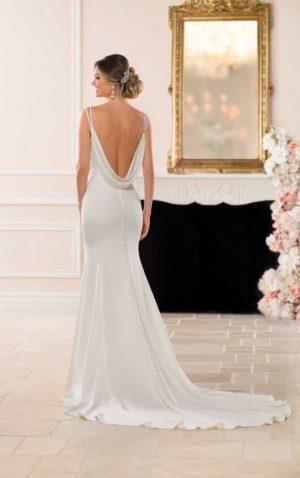 Stella York 6705 2 Wedding Dress (back)