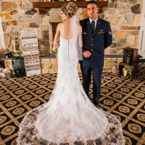 Alexandria in Stella York Wedding Dress