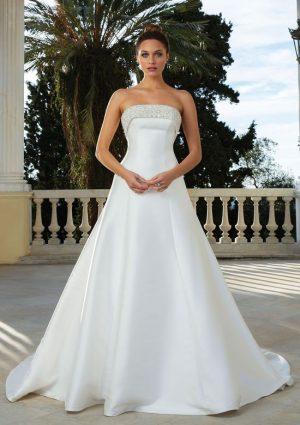 Justin Alexander 88106 Wedding Dress (front)