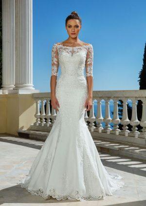 Justin Alexander 88114 Wedding Dress (front)