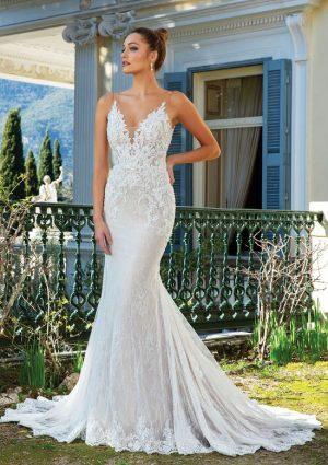 Justin Alexander 88124 Wedding Dress (front)