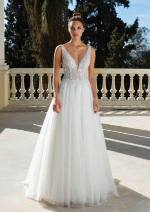 Justin Alexander 88129 Wedding Dress (front)