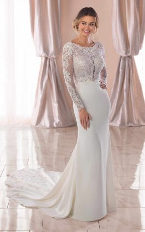 Stella York 6817 Wedding Dress (front)