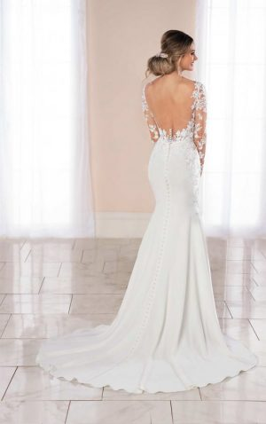 Stella York 6994 Wedding Dress (back)